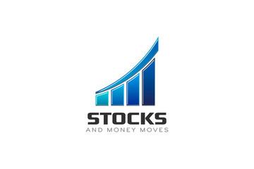Business Finance Bar Stocks Vector illustration