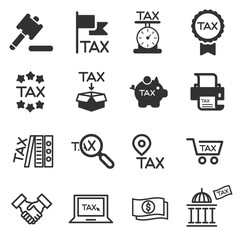 tax icon silhouette vector