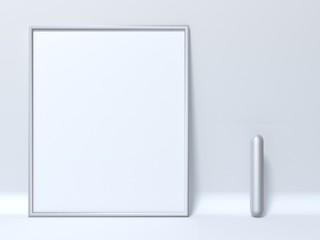 Mock up picture frame Letter I 3D