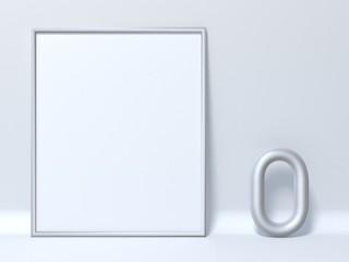 Mock up picture frame Letter O 3D
