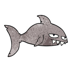 cartoon doodle deadly shark