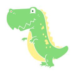 flat color illustration of a cartoon dinosaur