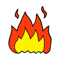 cartoon doodle fire burning