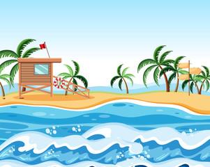 A summer beach background