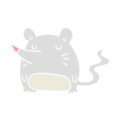 flat color style cartoon mouse
