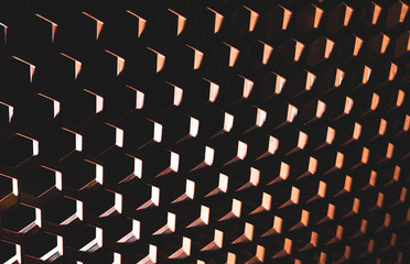Surreal abstract honeycomb pattern with heavy shadows
