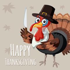 Turkey on thanksgiving template