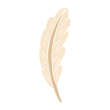 cartoon doodle white feather