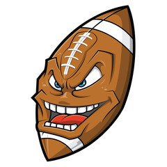 Cartoon American football angry face