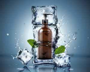 Frozen body wash ads