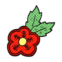 cartoon doodle rose tattoo symbol