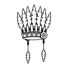 indigenus feathers crown thanksgiving icon