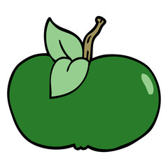 cartoon doodle juicy apple