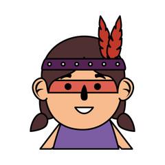 thanksgiving indigenus girl character