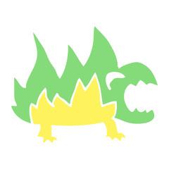 cartoon doodle fire demon