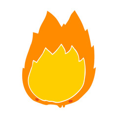 flat color style cartoon flames