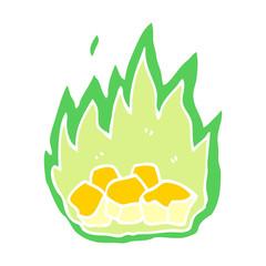 cartoon doodle spooky burning halloween coals