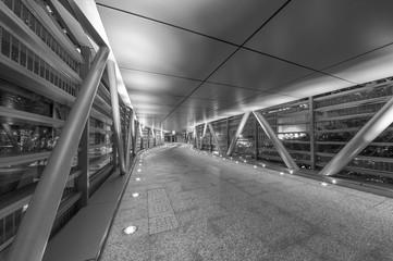 Empty pedestrian walkway