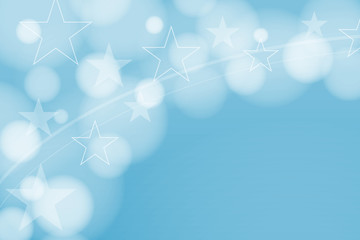 Abstract background, circles, stars, christmas,  vector graphics.