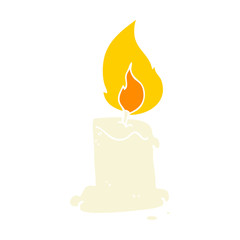 flat color style cartoon candle