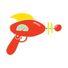 flat color style cartoon ray gun