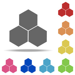 bee honeycomb icon. Elements of web in multi colored icons. Simple icon for websites, web design, mobile app, info graphics