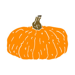 cartoon doodle pumpkin