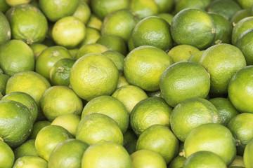 Fresh ripe green limes