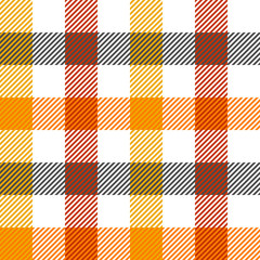 tartan seamless texture in autumn colors