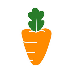cartoon doodle healthy carrot