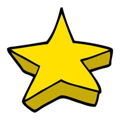 cartoon doodle shooting star