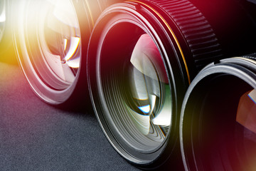 Photo lenses side view