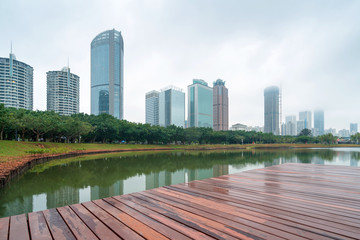 Skyscrapers in Hainan Island, China