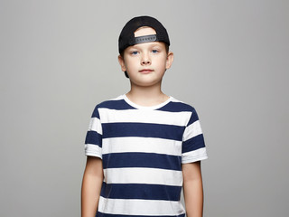 little boy. handsome kid in Cap