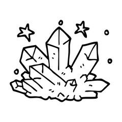 line drawing cartoon crystal sparkling