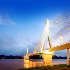 Modern bridge in the night