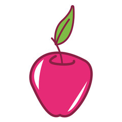 Pink apple cartoon
