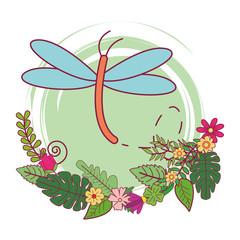dragonfly cute cartoon