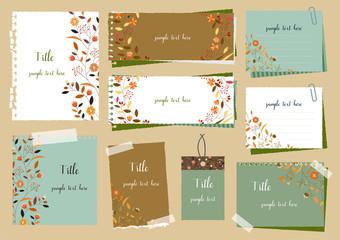秋色のメモ帳セット