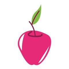 Pink apple cartoon