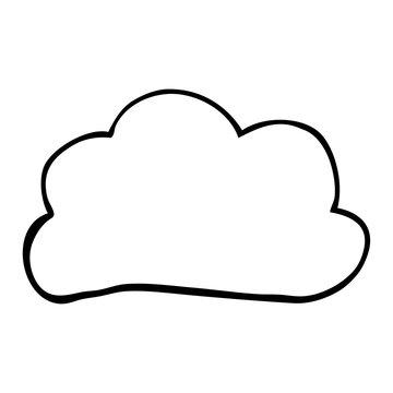 line drawing cartoon weather cloud