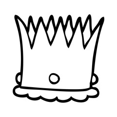 line drawing cartoon silver crown