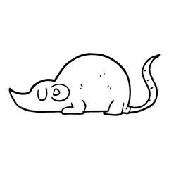 line drawing cartoon mouse rat