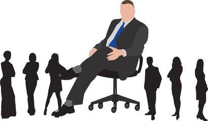 capo ufficio con collaboratori