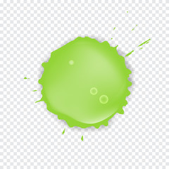 Green Splattered slime isolated on transparent background. Vector illustration.