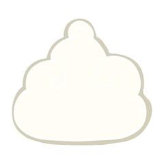 cartoon doodle cloud symbol