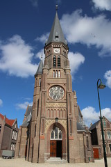 Old catholic saint Peter and Paul church (petrus and pauluskerk) in Reeuwijk dorp in the Netherlands.