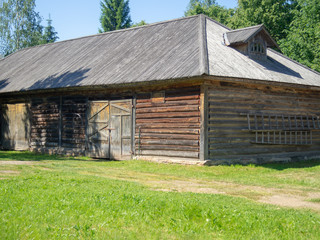 Wooden old barn