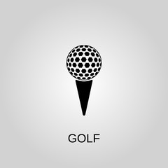 Golf icon. Golf symbol. Flat design. Stock - Vector illustration
