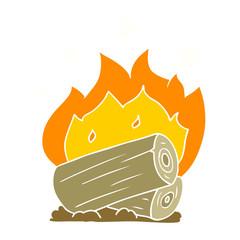 flat color style cartoon campfire